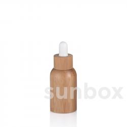 Frasco de vidro de 15ml com forro de bambu