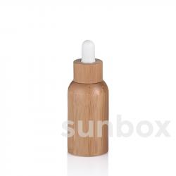 Frasco de vidro de 30ml com forro de bambu