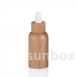 Frasco de vidro de 50ml com forro de bambu