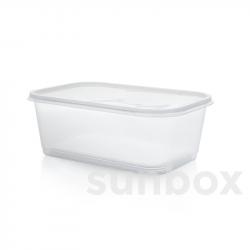 Caixa retangular de 1L com tampa