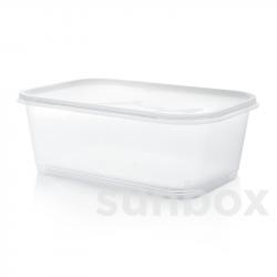 Caixa retangular de 2L com tampa
